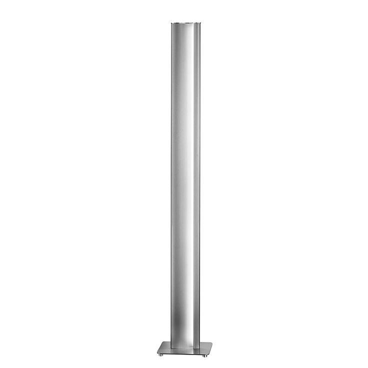 EEK A+, Stehleuchte KURVO - Metall/Kunststoff - Silber, Helestra