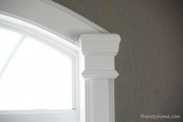 Remodelaholic | How to Install Molding and Trim on Arched Windows