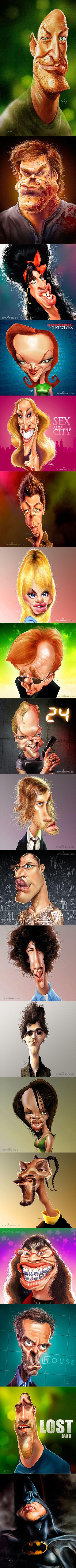 Работы Anthony Geoffroy Карикатуры