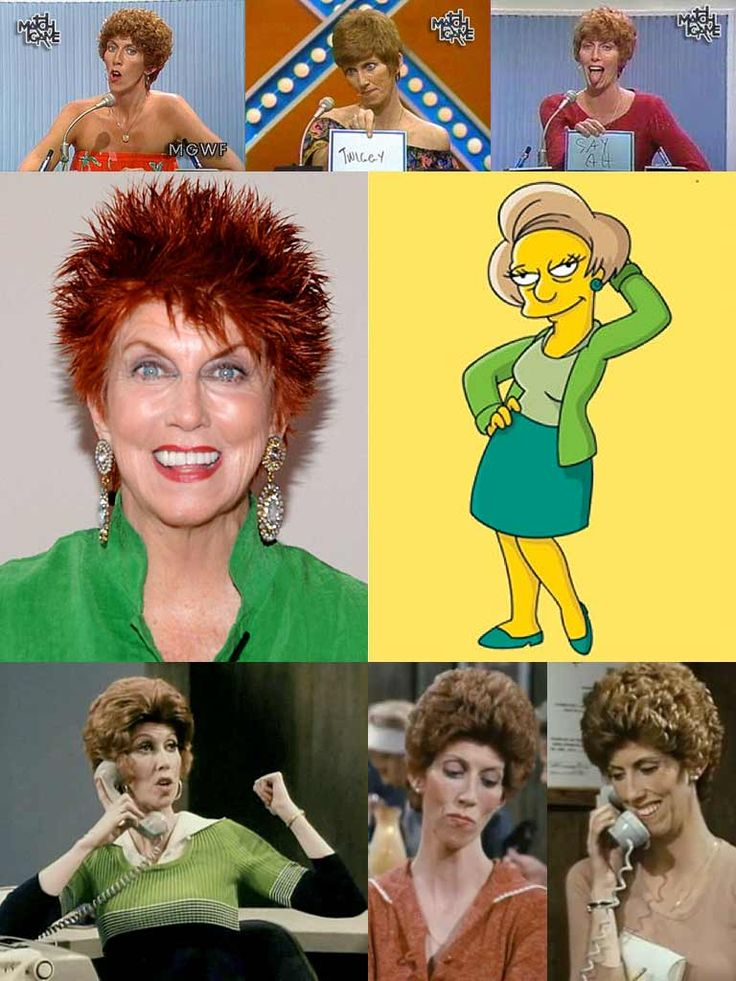 Marcia Wallace (November 1, 1942 – October 25, 2013) was an American character actress, comedienne and game show panelist, primarily known for her roles in television situation comedies. She is perhaps best known for her roles as receptionist Carol Kester on the 1970s sitcom The Bob Newhart Show, and as the voice of elementary school teacher Edna Krabappel on the animated series The Simpsons, for which she won an Emmy for Outstanding Voice-Over Performance in 1992.