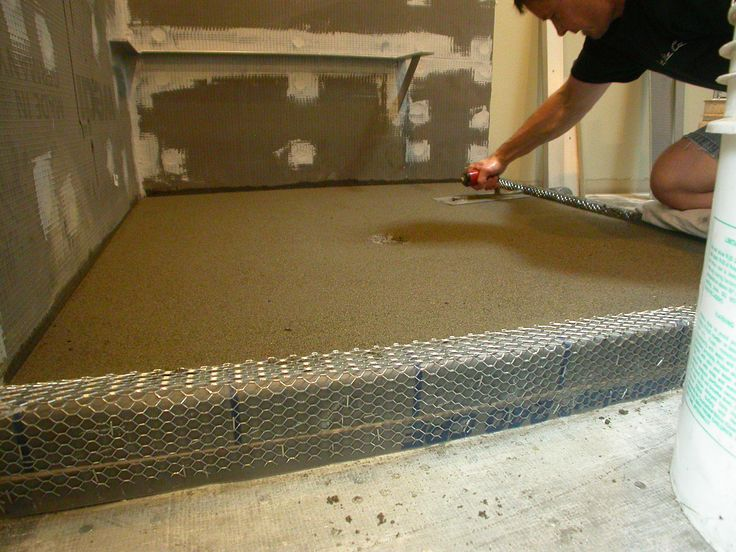 Troweling The Sand/mud For A Smooth Finish.