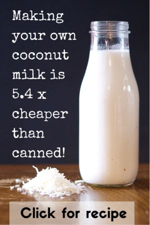 Save money by making your own coconut milk. It's so easy you'll