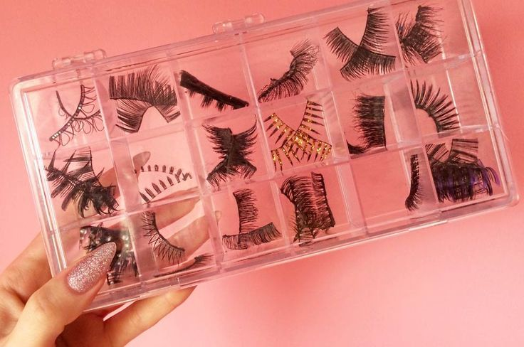 The ultimate DIY false lash organizer that might already be in your home.