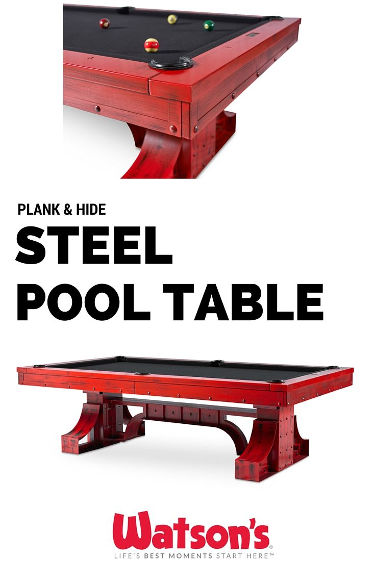 Unique pool tables family room contemporary with bold pool table cool - Modern Steel Pool Table Available In Custom Red Black Or Grey Finishes This