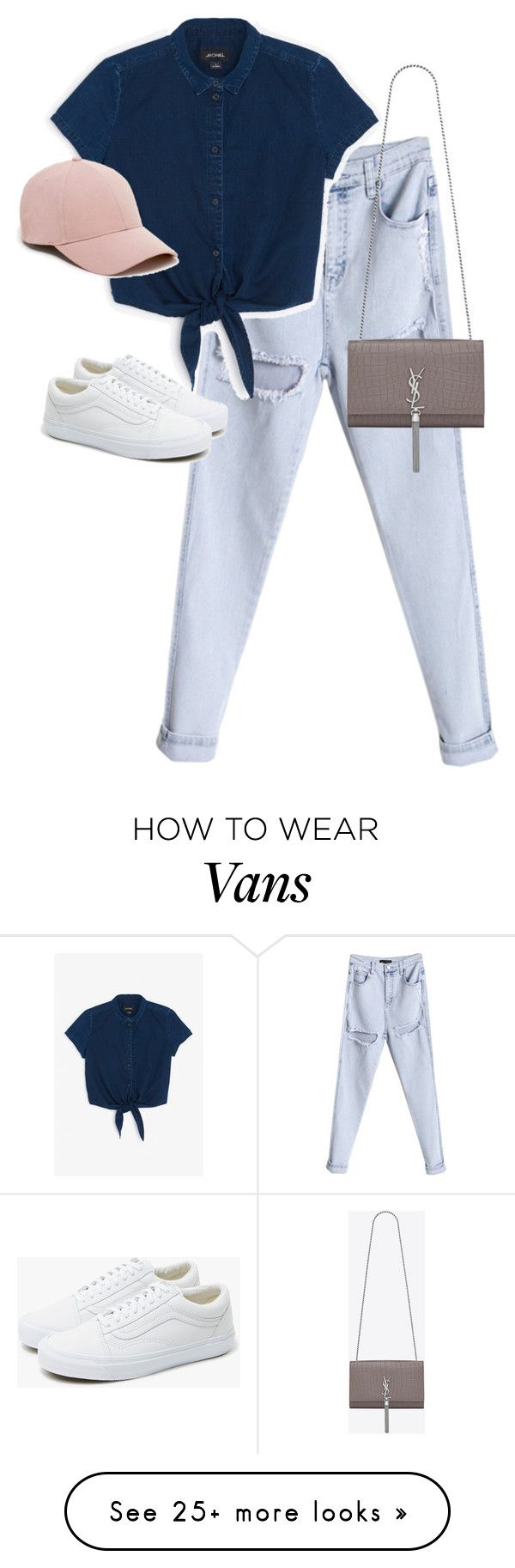 """Untitled #13208"" by alexsrogers on Polyvore featuring Monki, Sole Society, Vans and Yves Saint Laurent"