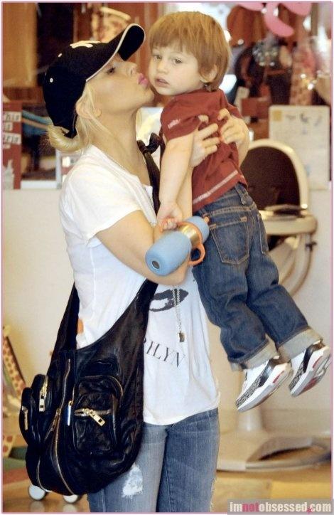 Christina Aguilera and her son, Max