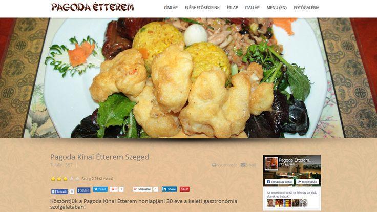 Pagoda étterem weboldala
