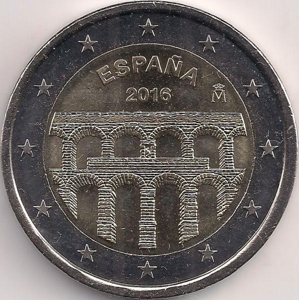 Motivseite: Münze-Europa-Südeuropa-Spanien-Euro-2.00-2016-Acueducto de Segovia