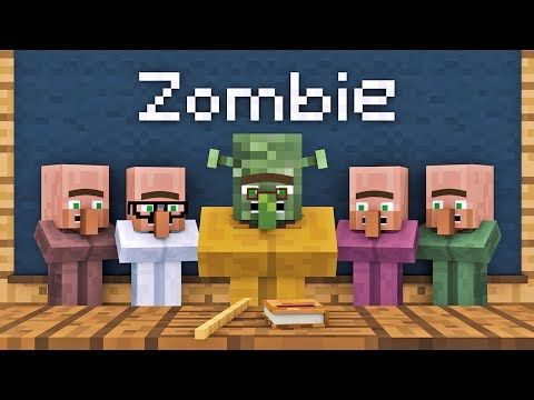 10 best minecraft images on pinterest animation minecraft songs green villager kid think zombie could be a friend but teacher says zombie is dangerous and evil zombie vs villager life 1 alien being minecraft sciox Images