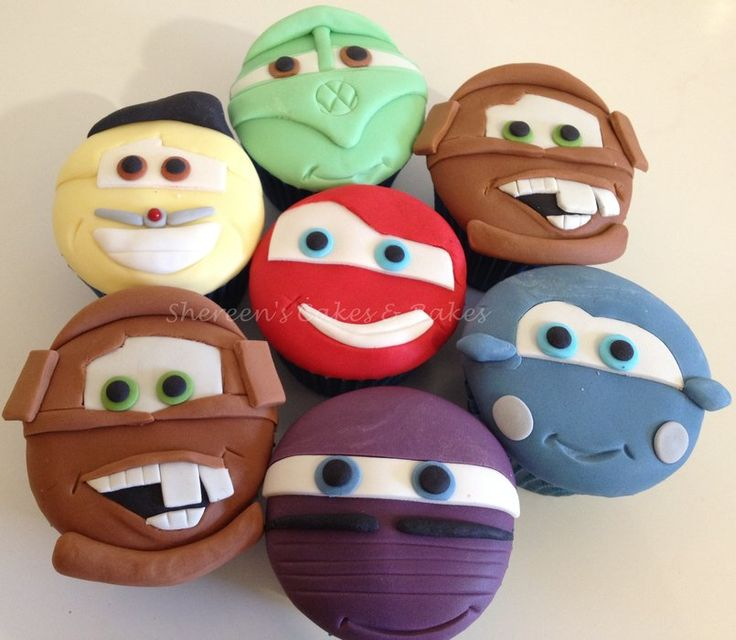 Cars Cupcakes by Shereens Cakes