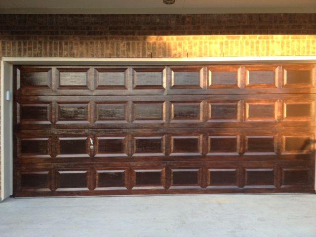 20 best garage door wood faux images on pinterest for Faux wood finish garage door