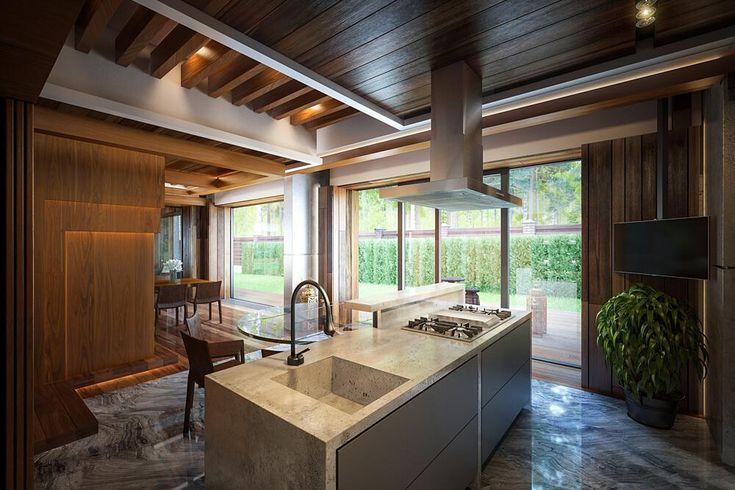 Luxuriöses Wohnhaus im Wald
