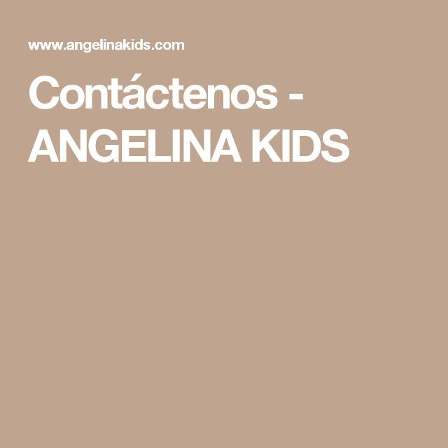 Contáctenos - ANGELINA KIDS