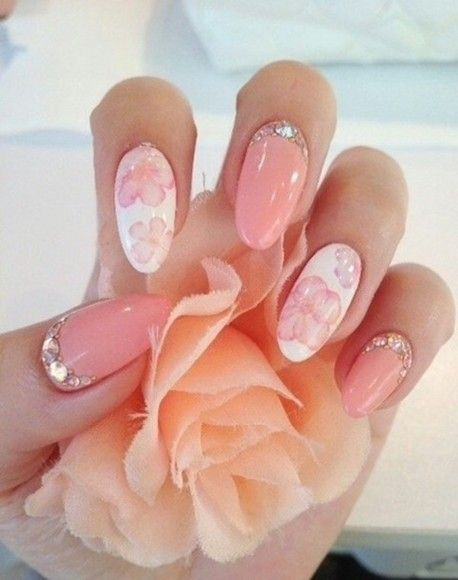 just peachy   See more at http://www.nailsss.com/colorful-nail-designs/2/