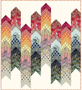 Don't like the colors or patterns of fabric, but like the quilt pattern idea.   Tula Pink Moon Shine