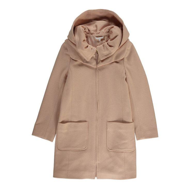 manteau-drap-de-laine-capuche-amovible-rose-pale