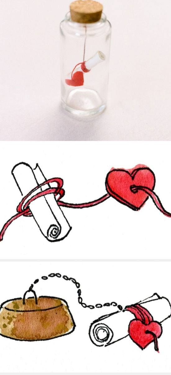 Message in Bottle Valentine   DIY Birthday Gifts for Boyfriend Anniversary
