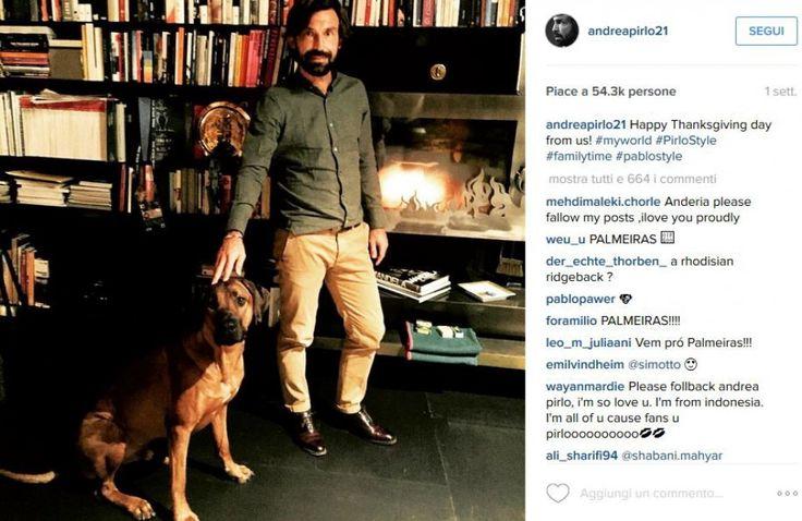L'ex centrocampista della Juventus, Andrea Pirlo, insieme a Pablo