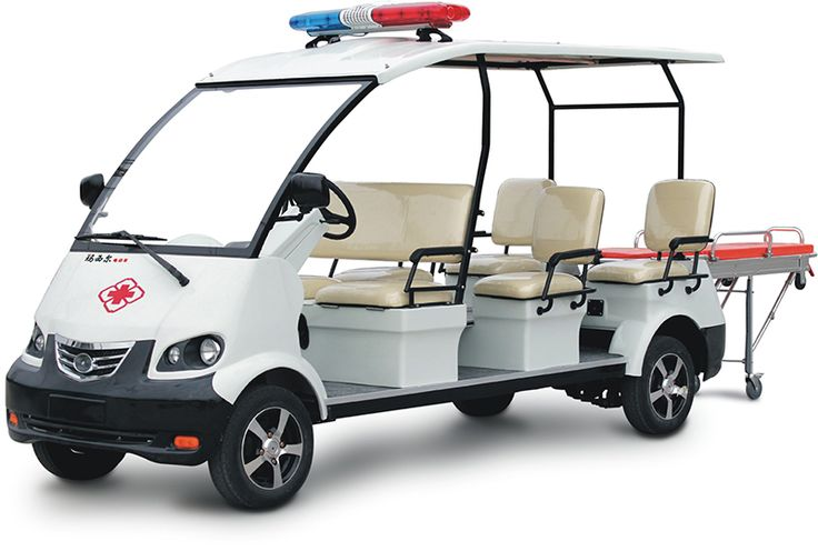 6 seater electric ambulance vehicle with stretcher