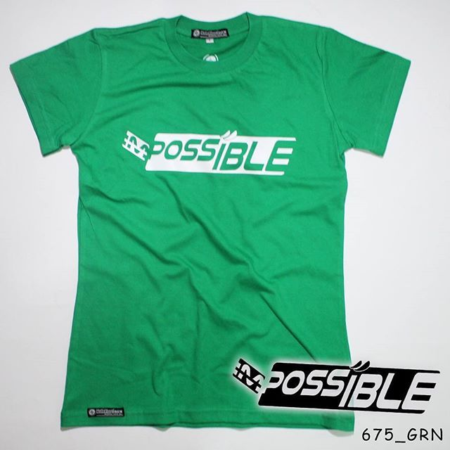 """Possible"". Ladies Tees.  Polyflex White by @eiffashion 