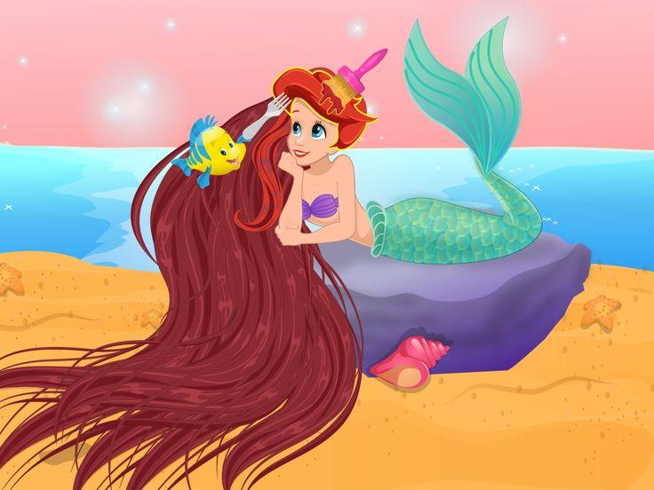 Ariel Spa Day  http://www.enjoydressup.com/spa-games/ariel-spa-day-8442.html