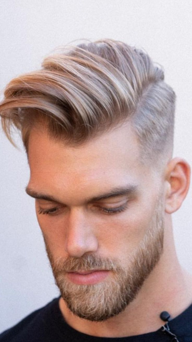 Pin by Justlifestyle on Men'sHair | Long blonde hair, Men blonde hair, Mens hairstyles fade