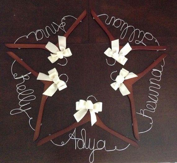 Personalized Bridesmaid Hanger Wedding Dress by ForeverAndADayVA, $12.00
