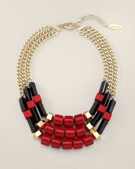 Chico's Robin Multi-Strand Necklace