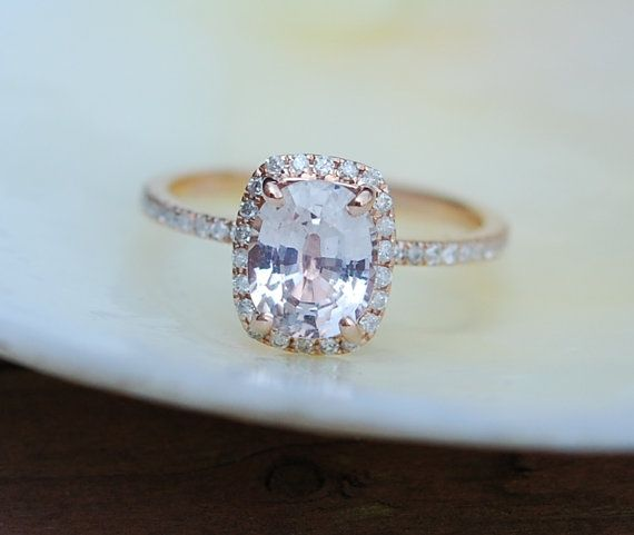 Hey, I found this really awesome Etsy listing at https://www.etsy.com/listing/246939783/peach-champagne-sapphire-engagement-ring