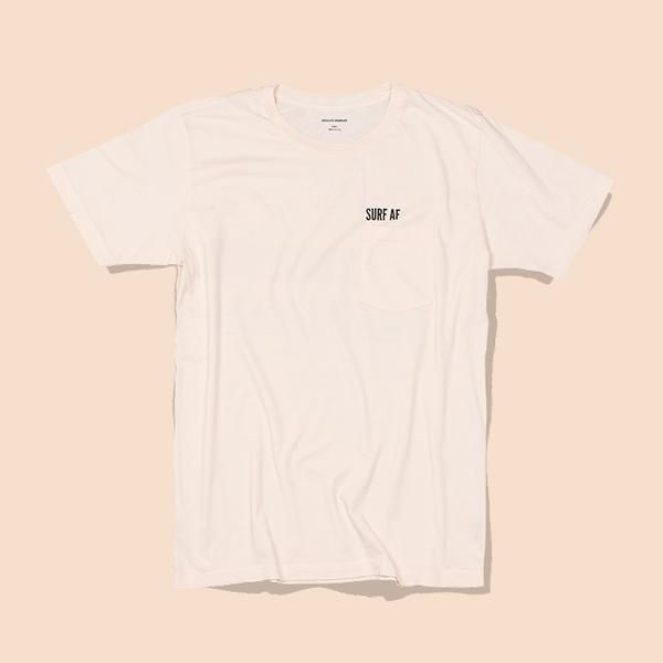 Quality Peoples Unisex Graphic Crew T-Shirt Surf AF Nude Front