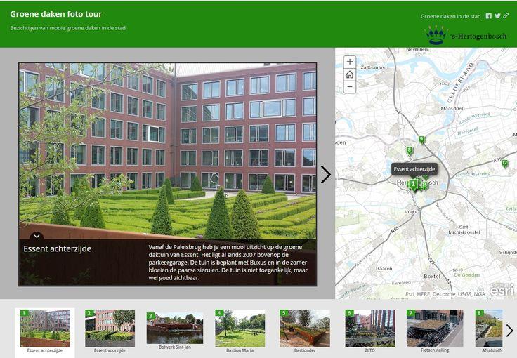 Interactieve kaart met 15 groene daken in gemeente 's-Hertogenbosch die je zelf kun bekijken. Immers, veel groene daken zijn niet zichtbaar vanaf de straat.