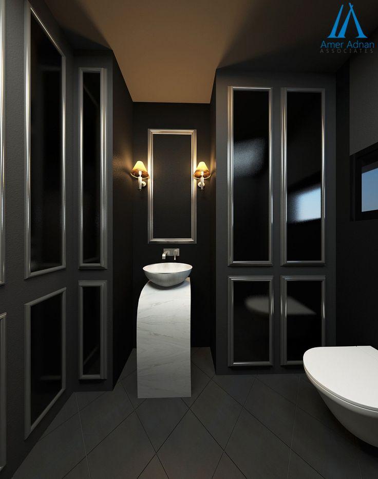 powder bathroom design idea by ameradnancom