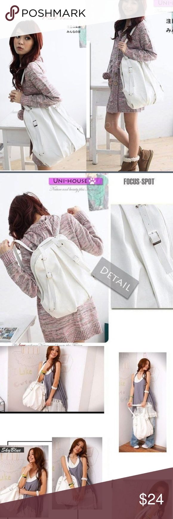 white back pack bag purse hobo New Korean Style Fashion lady 2 Ways synthetic leather Backpack Purse Handbag Shoulders Bag white back pack bag purse hobo backpack Bags Backpacks