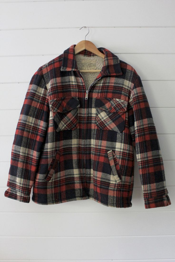 Black jacket with red checkered inside