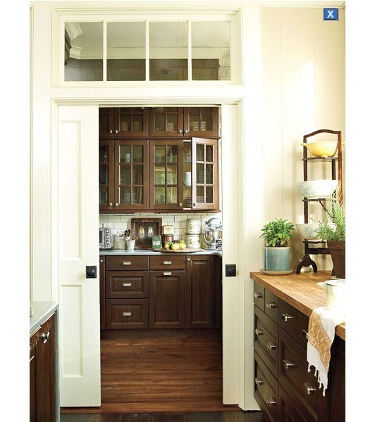 Cool pocket doors into maybe a dining area or breakfast nook