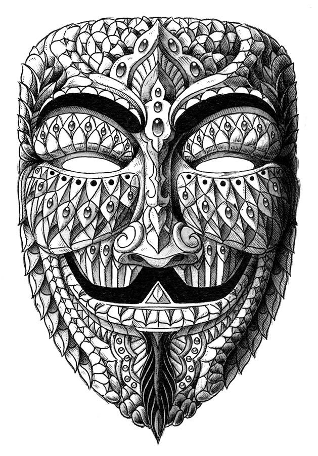 Image of Anonymous Mask Drawing