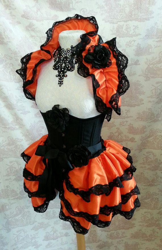 FREE SHIPPING. Halloween Pumpkin.  Burlesque  by GothicBurlesque, $74.00