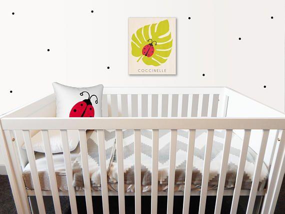 Cadre en bois 8X10 coccinelle Cadre chambre enfant thème