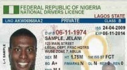 Nigeria Driver Licence Drivers License Ca Drivers License