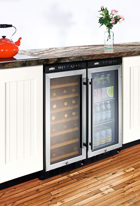 love the wine fridge with the beverage center. best of all this wine fridge locks!