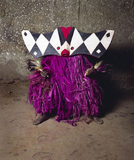 Masks from Burkino Faso photographed by Jean-Claude Moschetti