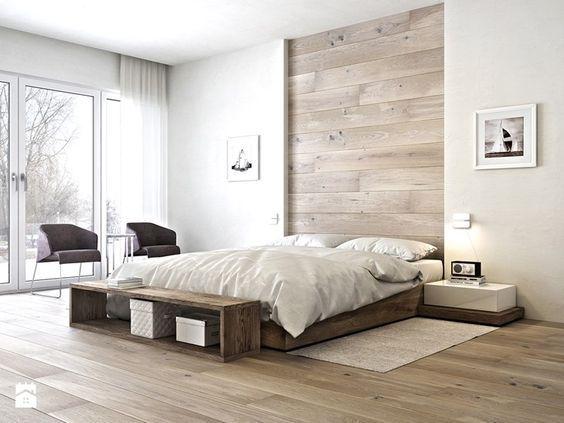 Die besten 25+ Holzwand schlafzimmer Ideen auf Pinterest - schlafzimmer ideen wandgestaltung stein