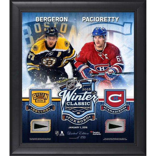 2016 Bridgestone NHL Winter Classic Montreal Canadiens vs. Boston Bruins Fanatics Authentic Framed 15'' x 17'' Match-Up Collage with Pieces of Game-Used Puck - $99.99