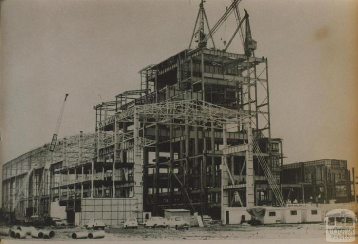 Hazelwood power house in construction, 1961