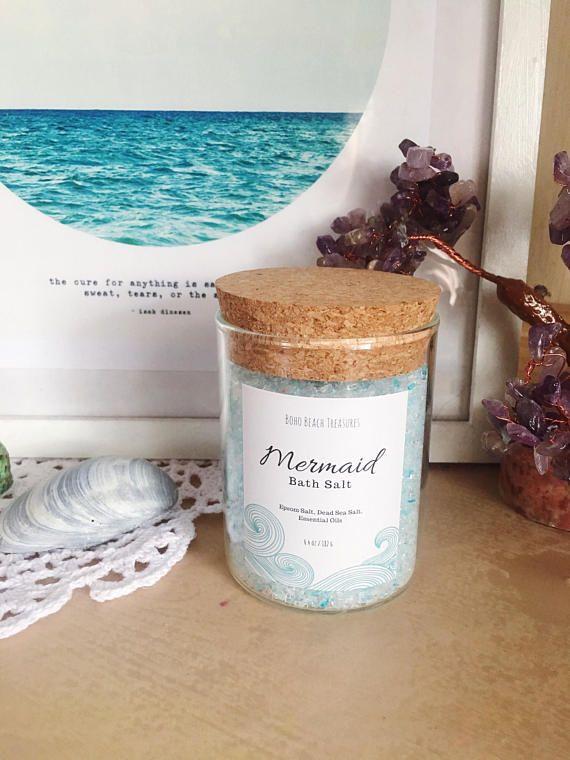 Mermaid Bath Salt Mermaid Bath Soak Spa Gift For Mother Bath
