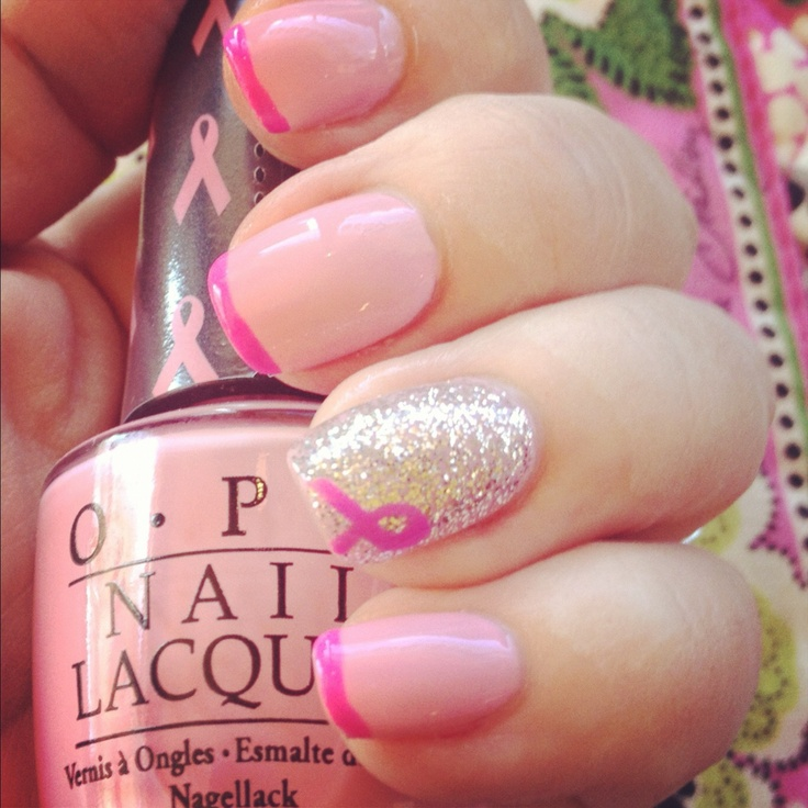 17 Best Images About Pink Ribbon Nails On Pinterest