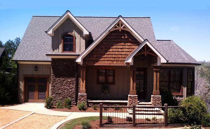 Cottage Style House Plan Screened Porch By House Plans