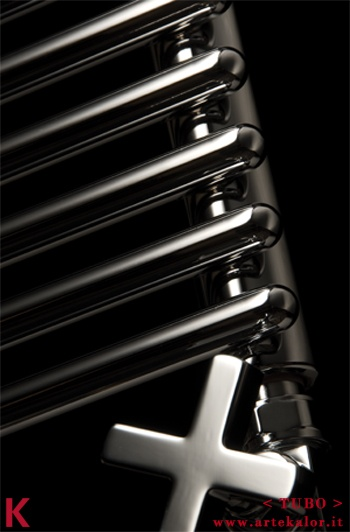 TUBO by ArteKalor - Stylish and unique design for this radiator, which in the name expresses the essence of its aesthetic.  It can easily be placed in every room of the house.  Available in many sizes and finishes, both with hydraulic, electrical or dual.