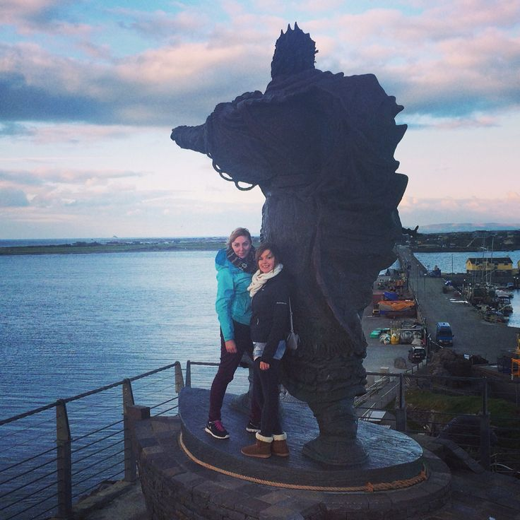 Saint Brendans statue in Fenit, Co.kerry