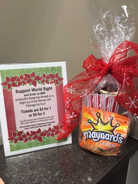 Support our Optometry Giving Sight Fundraiser and enter to win a movie night out for four on us!!